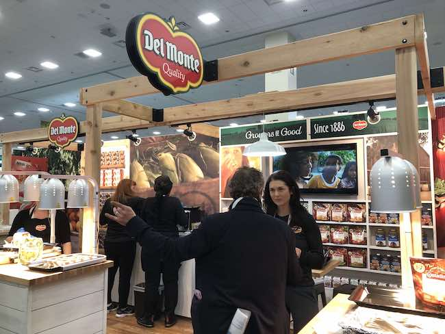 del monte booth at trade show